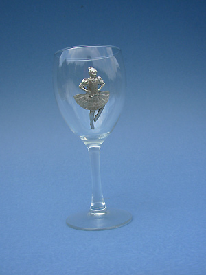 Highland Dancer Wine Glass - Lead Free Pewter