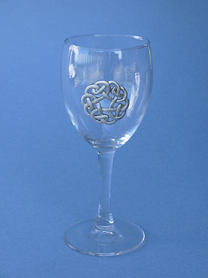Celtic Circle Wine Glass - Lead Free Pewter