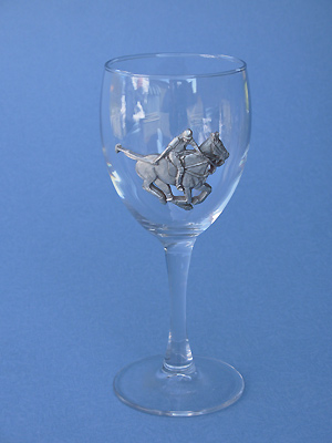 Polo Wine Glass - Lead Free Pewter