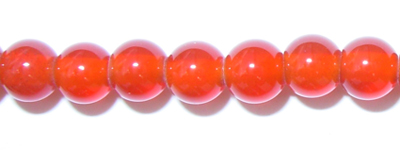 "4mm Round Red Agate - 16"" Strand"