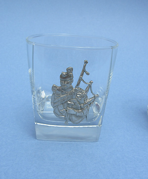Piper Rock Glass - Lead Free Pewter