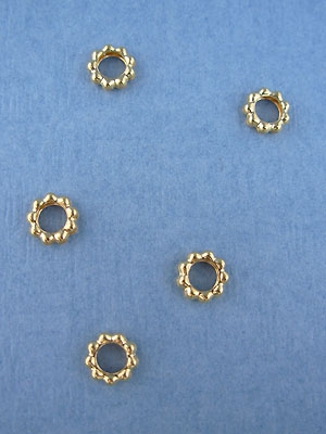 6mm Solid Rings - Gold Plated - 12pcs