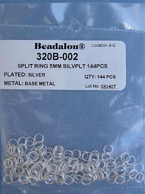 5mm Silver Plated Split Rings - Gross - 144pcs.