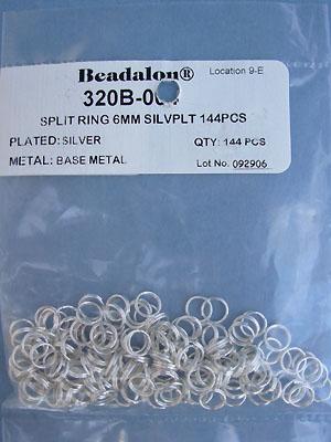 6mm Silver Plated Split Rings - Gross - 144pcs.