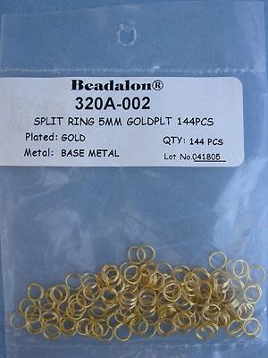 5mm Gold Plated Split Rings - Gross - 144pcs.