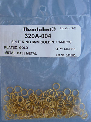 6mm Gold Plated Split Rings - Gross - 144pcs.