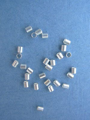 1.8mm Silver Plated Crimp Tubes 5gm pk