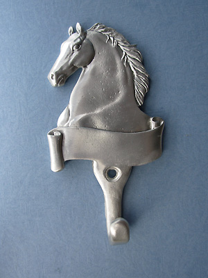 Engraveable Horse Wall Hook - Lead Free Pewter