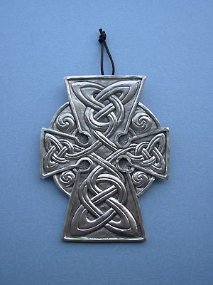 Meditation Cross Wall Hanging - Lead Free Pewter
