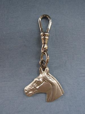 Horse Head Zipper Puller - Lead Free Pewter