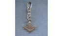 Stylized Maple Leaf Zipper Puller - Lead Free Pewter