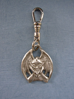 Dragon with Wings Zipper Puller Lead Free Pewter