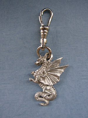 Dragon Zipper Puller - Lead Free Pewter