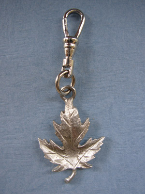 Maple Leaf Zipper Puller - Lead Free Pewter